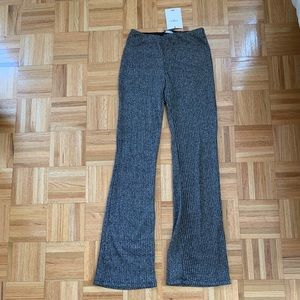 Zara metallic wide leg sparkley pants